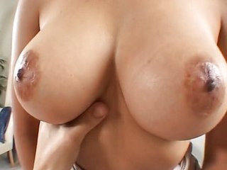 Busty brunette Sable got cream