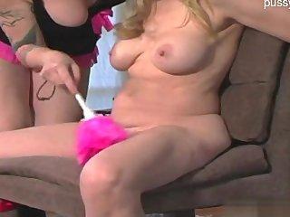 Cute girl ball sucking
