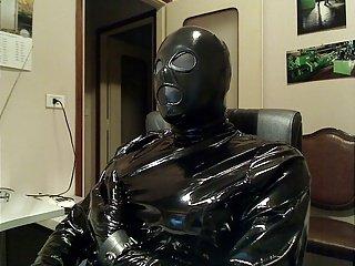 fetish dress e mask
