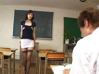 Randy japanese teacher - uncensored