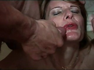 FRENCH MATURE 24 anal mature mom hot lady 4 men double pen