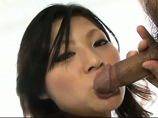 Innocent honey Ryo Sasaki finds her mouth filled with hot