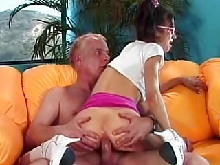 Young Whore Blows Grandpas Dick