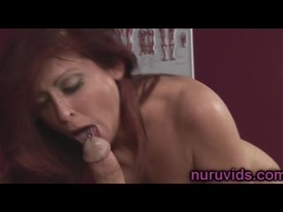 Redhead busty Hot lady likes sucking dick