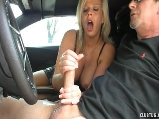 Sexy Hot lady Jerking In The Car