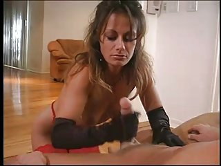 Babe gives handjob