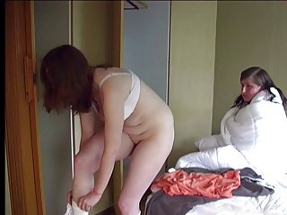 girl caned by her roommate