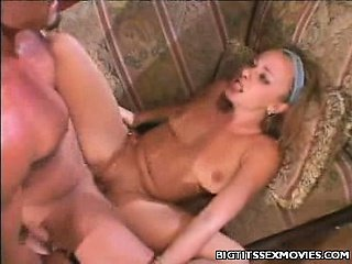 Big tit blonde facial