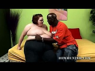 Fat Hottie Does Her First Interracial