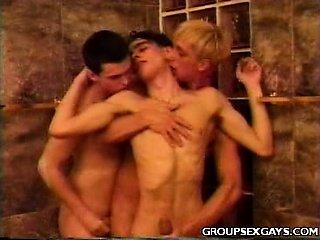 Cute Twinks Hot Threesome Sex