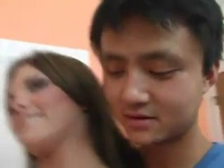 AMWF Mackenzie Pierce interracial with Asian guy