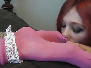 Lesbian sock worship