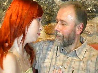 old man fucks redhead