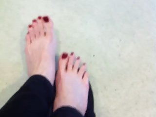 Long Red Pedi Toes Xo