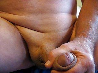 65 yrold Grandpa mature penis #12 close closeup wank uncut