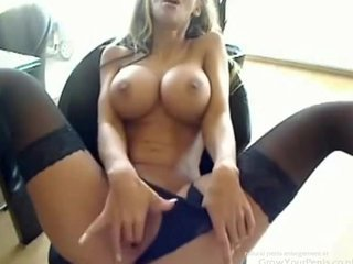 Perfect German Girl Masturbating at Work