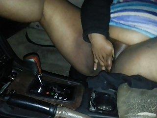my bbw  sub masterbating in my car