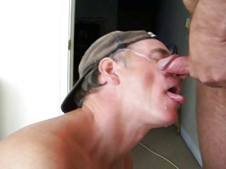 Terry Lavigne takes a facial
