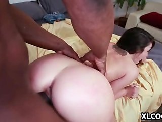 Lola Foxx handles big black dick