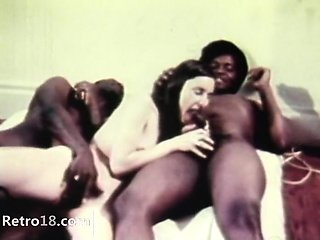 attractive retro threesome fucking