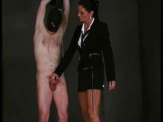 Handjob Femdom - Dick slapping and handjob