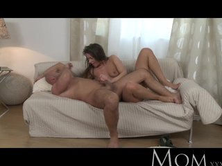 MOM - Sophisticated brunette with hairy pussy