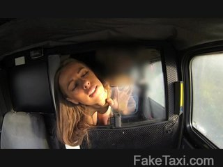 FakeTaxi - Teen sucks big dick for free ride