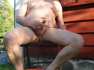 Daddy jerk off outside 1