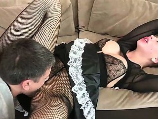 Brooklyn Lee fuck in sexy maid costume
