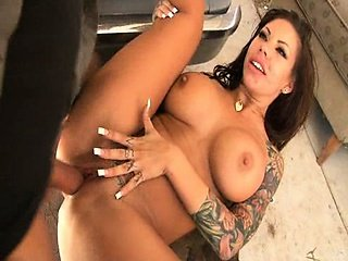 Busty brunette Mason Moore get hard pumping action from a