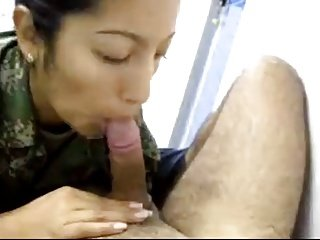 Colombian Police Officer Sucking Dick