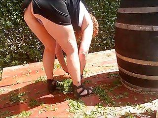 Upskirt gardening