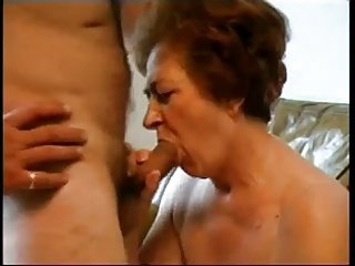 Granny Sucking Dick and Taking Load Face