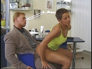 Short Hair Blonde Fuck by Policeman