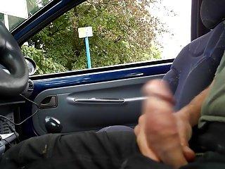 flashing dick in car