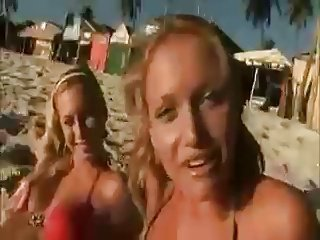 Naughty Teen Girls Get Fuck on Beach