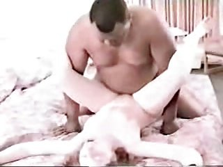 Wife used by black bull in a hotel room