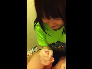Asian cute girl blow job