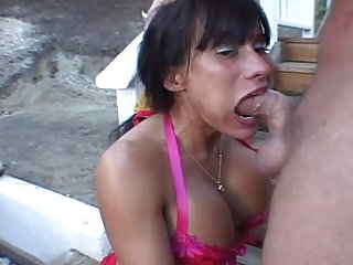 Latina Takes a Big Penis In Her Mouth