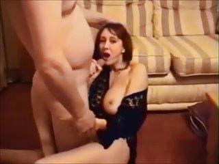 Amateur brunette wife gets fuck