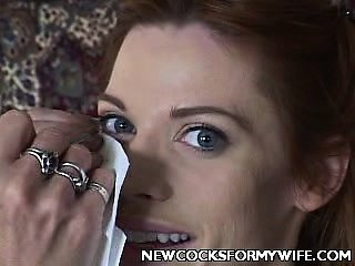 Dick Crammed Brunette Housewife