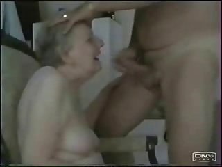 Granny sucking young dick. Amateur