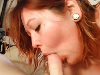 Wife blow job swallow