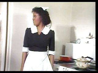Black Maid Jeannie Gets Vintage Dick