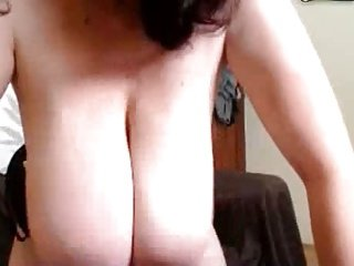 Old mature with huge saggy natural hangers - pussy