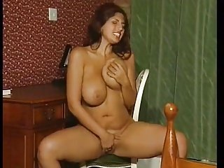 Big tit girl rubbing her pussy