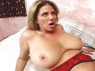 gorgeous mature sucks and fucks a dick