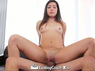 Casting Couch-X Exotic girl sucks dick for shopping money