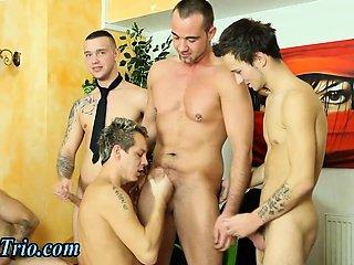 Group dick sucking bisexuals