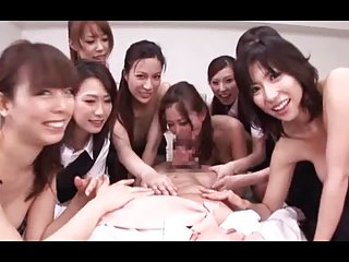 Japanese Office Lady Vacuum Fellatio Group